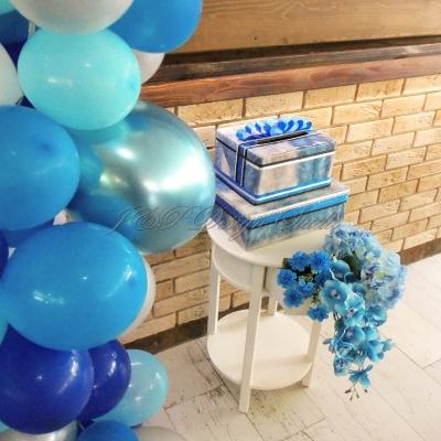 Декорация за бал в синьо
