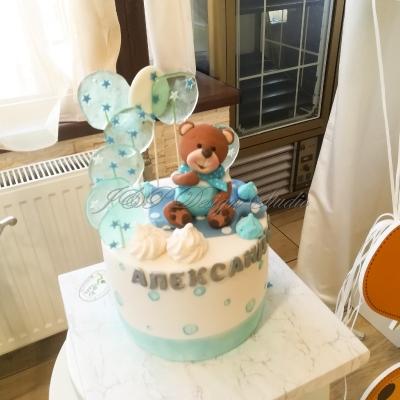 първи рожден ден на момче в синьо