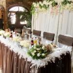 Сватбена украса в кафяво. Ресторант Родина