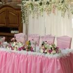 сватбена украса в розово. Ресторант Родина