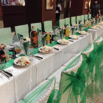 декорация за рожден ден в зелено