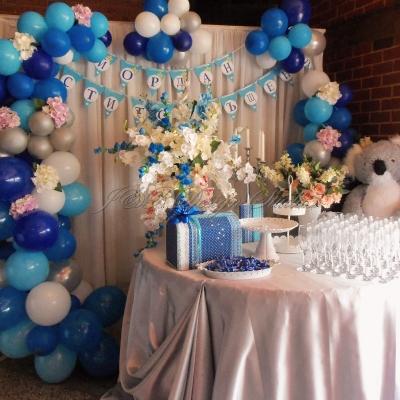 Украса за кръщение в синьо