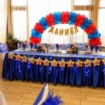 украса за детски рожден ден в червено и синьо
