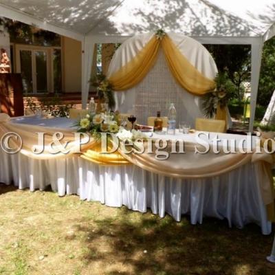 Сватбена украса в екрю