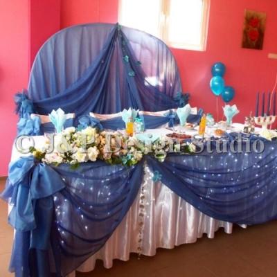 украса в синьо