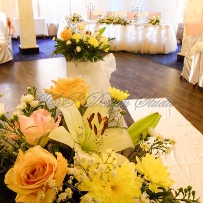 Сватбена украса в Ресторант Централ Плевен. Декорация в прасковено