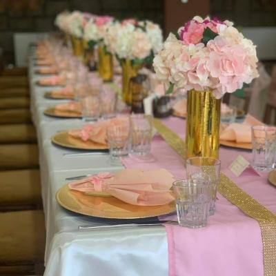 бал в розово и златисто