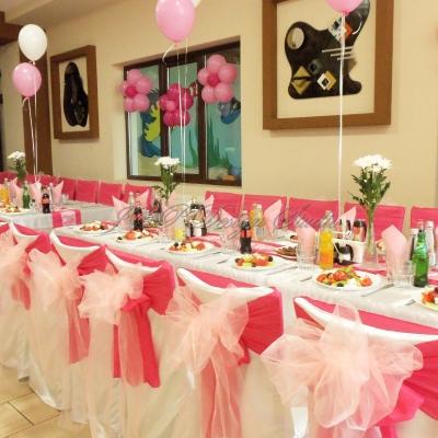 декорация в розово