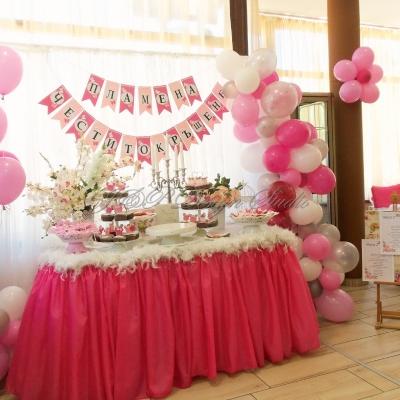 декорация в розово за празника на Пламена, Ресторант Голеж