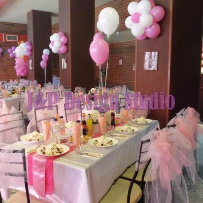 Декорация за рожден ден в розово