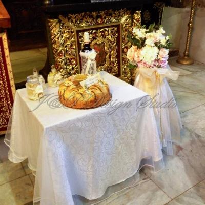 Декорация за кръщене в Шато Монтан