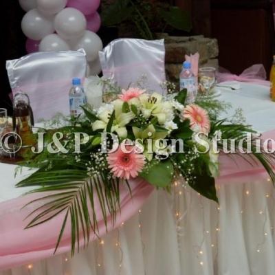 Сватбена украса в Ресторант Родина