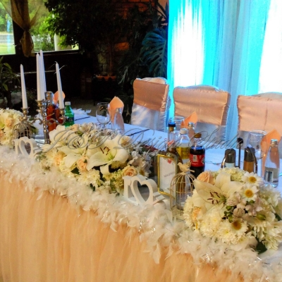 сватба в цвят праскова