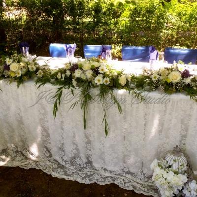 Сватбена украса в синьо в Ресторант Терра